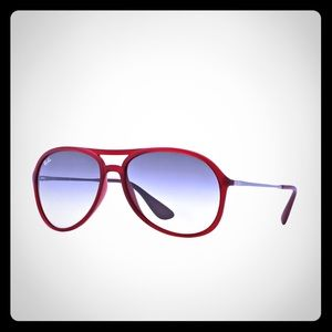 Red Aviator Ray Bans, authentic, with case